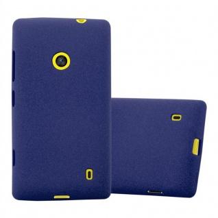 Cadorabo Hülle für Nokia Lumia 520 in FROST DUNKEL BLAU - Handyhülle aus flexiblem TPU Silikon - Silikonhülle Schutzhülle Ultra Slim Soft Back Cover Case Bumper