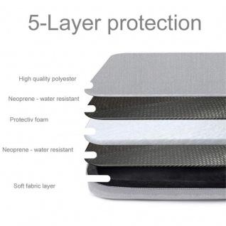 """"""" Cadorabo Laptop / Tablet Tasche 14'"""" Zoll in GRAU ? Notebook Computer Tasche aus Stoff mit Samt-Innenfutter und Fach mit Anti-Kratz Reißverschluss ? Schutzhülle Sleeve Case"""" - Vorschau 4"""