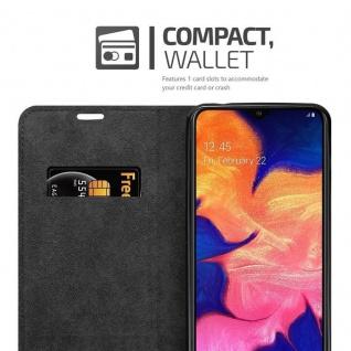 Cadorabo Hülle für Samsung Galaxy A10 in KAFFEE BRAUN - Handyhülle mit Magnetverschluss, Standfunktion und Kartenfach - Case Cover Schutzhülle Etui Tasche Book Klapp Style - Vorschau 3