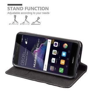 Cadorabo Hülle für Huawei P8 LITE 2017 in SCHWARZ BRAUN ? Handyhülle mit Magnetverschluss, Standfunktion und Kartenfach ? Case Cover Schutzhülle Etui Tasche Book Klapp Style - Vorschau 5