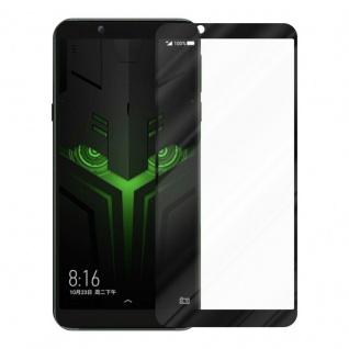 Cadorabo Vollbild Panzer Folie für Xiaomi BLACK SHARK 2 - Schutzfolie in TRANSPARENT mit SCHWARZ - Gehärtetes (Tempered) Display-Schutzglas in 9H Härte mit 3D Touch Kompatibilität - Vorschau 2