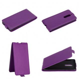 Cadorabo Hülle für Nokia 5 2017 in FLIEDER VIOLETT - Handyhülle im Flip Design aus glattem Kunstleder - Case Cover Schutzhülle Etui Tasche Book Klapp Style