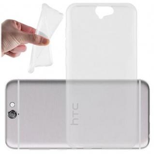 Cadorabo Hülle für HTC ONE A9 - Hülle in VOLL TRANSPARENT ? Handyhülle aus TPU Silikon im Ultra Slim 'AIR' Design - Ultra Slim Soft Backcover Case Bumper