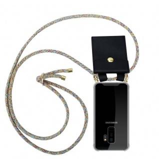 Cadorabo Handy Kette für Samsung Galaxy S9 PLUS in RAINBOW Silikon Necklace Umhänge Hülle mit Gold Ringen, Kordel Band Schnur und abnehmbarem Etui Schutzhülle