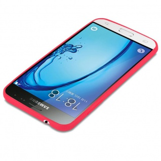 Cadorabo Hülle für Samsung Galaxy J3 / J3 DUOS 2016 in CANDY ROT - Handyhülle aus flexiblem TPU Silikon - Silikonhülle Schutzhülle Ultra Slim Soft Back Cover Case Bumper - Vorschau 2