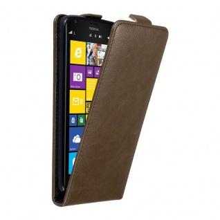 Cadorabo Hülle für Nokia Lumia 1520 in KAFFEE BRAUN - Handyhülle im Flip Design mit unsichtbarem Magnetverschluss - Case Cover Schutzhülle Etui Tasche Book Klapp Style