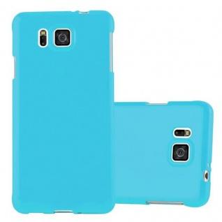 Cadorabo Hülle für Samsung Galaxy ALPHA in JELLY HELL BLAU ? Handyhülle aus flexiblem TPU Silikon ? Silikonhülle Schutzhülle Ultra Slim Soft Back Cover Case Bumper