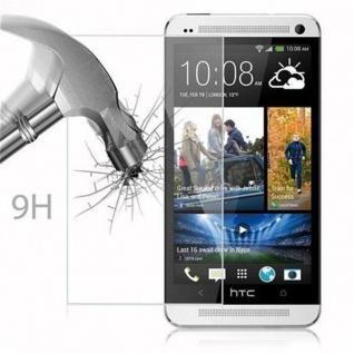 Cadorabo Panzer Folie für HTC ONE M7 (1.Gen.) - Schutzfolie in KRISTALL KLAR - Gehärtetes (Tempered) Display-Schutzglas in 9H Härte mit 3D Touch Kompatibilität - Vorschau 3