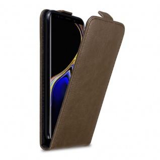 Cadorabo Hülle für Samsung Galaxy NOTE 9 in KAFFEE BRAUN Handyhülle im Flip Design mit unsichtbarem Magnetverschluss Case Cover Schutzhülle Etui Tasche Book Klapp Style