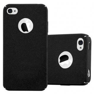 Cadorabo Hülle für Apple iPhone 4 / iPhone 4S in FROSTY SCHWARZ - Hardcase Handyhülle aus Plastik gegen Kratzer und Stöße - Schutzhülle Bumper Ultra Slim Back Case Hard Cover