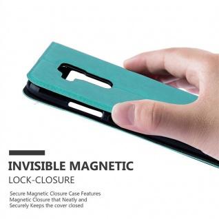 Cadorabo Hülle für Huawei NOVA PLUS in MINT TÜRKIS - Handyhülle mit Magnetverschluss, Standfunktion und 2 Sichtfenstern - Case Cover Schutzhülle Etui Tasche Book Klapp Style - Vorschau 5