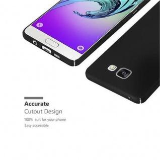 Cadorabo Hülle für Samsung Galaxy A3 2016 in METALL SCHWARZ - Hardcase Handyhülle aus Plastik gegen Kratzer und Stöße - Schutzhülle Bumper Ultra Slim Back Case Hard Cover - Vorschau 3