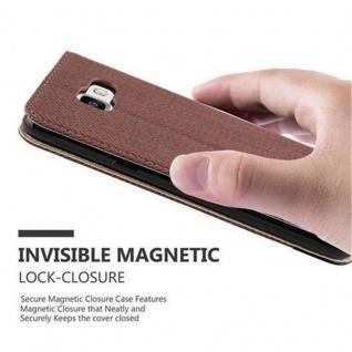 Cadorabo Hülle für Samsung Galaxy A5 2016 (6) - Hülle in KASTANIEN BRAUN - Handyhülle in Bast-Optik mit Kartenfach und Standfunktion - Case Cover Schutzhülle Etui Tasche Book Klapp Style - Vorschau 5