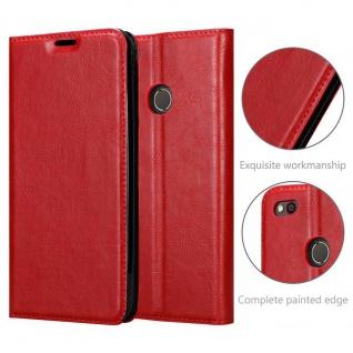 Cadorabo Hülle für ZTE Nubia N1 in APFEL ROT Handyhülle mit Magnetverschluss, Standfunktion und Kartenfach Case Cover Schutzhülle Etui Tasche Book Klapp Style - Vorschau 5