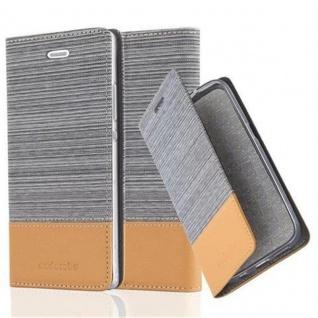 Cadorabo Hülle für Huawei P8 in HELL GRAU BRAUN Handyhülle mit Magnetverschluss, Standfunktion und Kartenfach Case Cover Schutzhülle Etui Tasche Book Klapp Style