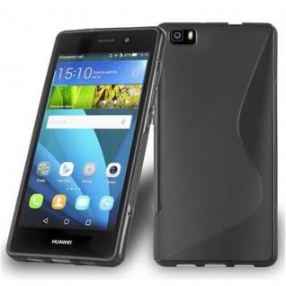 Cadorabo Hülle für Huawei P8 LITE 2015 in OXID SCHWARZ ? Handyhülle aus flexiblem TPU Silikon ? Silikonhülle Schutzhülle Ultra Slim Soft Back Cover Case Bumper