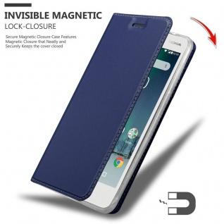Cadorabo Hülle für Nokia 2 2017 in CLASSY DUNKEL BLAU - Handyhülle mit Magnetverschluss, Standfunktion und Kartenfach - Case Cover Schutzhülle Etui Tasche Book Klapp Style - Vorschau 3