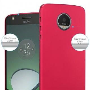 Cadorabo Hülle für Motorola MOTO Z in METALL ROT - Hardcase Handyhülle aus Plastik gegen Kratzer und Stöße - Schutzhülle Bumper Ultra Slim Back Case Hard Cover - Vorschau 4