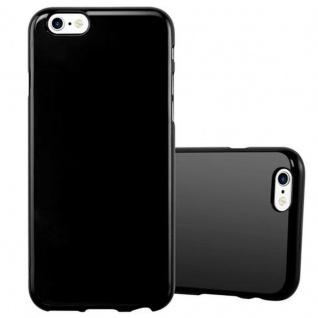 Cadorabo Hülle für Apple iPhone 6 / iPhone 6S in JELLY SCHWARZ ? Handyhülle aus flexiblem TPU Silikon ? Silikonhülle Schutzhülle Ultra Slim Soft Back Cover Case Bumper