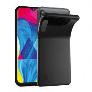 Cadorabo Hülle für Samsung Galaxy M10 in SCHWARZ - Handyhülle aus flexiblem TPU Silikon - Silikonhülle Schutzhülle Ultra Slim Soft Back Cover Case Bumper