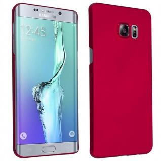 Cadorabo Hülle für Samsung Galaxy S6 EDGE PLUS in METALL ROT ? Hardcase Handyhülle aus Plastik gegen Kratzer und Stöße ? Schutzhülle Bumper Ultra Slim Back Case Hard Cover