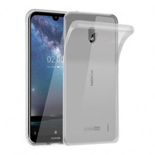 Cadorabo Hülle für Nokia 2.2 in VOLL TRANSPARENT - Handyhülle aus flexiblem TPU Silikon - Silikonhülle Schutzhülle Ultra Slim Soft Back Cover Case Bumper