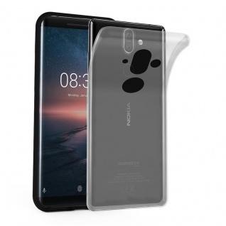 Cadorabo Hülle für Nokia 8 Sirocco in VOLL TRANSPARENT - Handyhülle aus flexiblem TPU Silikon - Silikonhülle Schutzhülle Ultra Slim Soft Back Cover Case Bumper