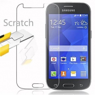 Cadorabo Panzer Folie für Samsung Galaxy ACE 4 - Schutzfolie in KRISTALL KLAR - Gehärtetes (Tempered) Display-Schutzglas in 9H Härte mit 3D Touch Kompatibilität