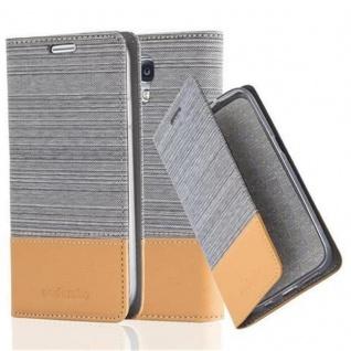 Cadorabo Hülle für Samsung Galaxy S4 in HELL GRAU BRAUN - Handyhülle mit Magnetverschluss, Standfunktion und Kartenfach - Case Cover Schutzhülle Etui Tasche Book Klapp Style