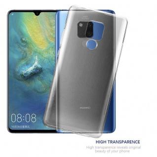 Cadorabo Hülle für Huawei MATE 20 X in VOLL TRANSPARENT - Handyhülle aus flexiblem TPU Silikon - Silikonhülle Schutzhülle Ultra Slim Soft Back Cover Case Bumper - Vorschau 5