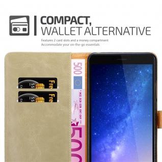 Cadorabo Hülle für Xiaomi Mi Max 2 in CAPPUCCINO BRAUN - Handyhülle mit Magnetverschluss, Standfunktion und Kartenfach - Case Cover Schutzhülle Etui Tasche Book Klapp Style - Vorschau 5