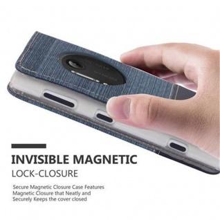 Cadorabo Hülle für Nokia Lumia 1020 in DUNKEL BLAU SCHWARZ - Handyhülle mit Magnetverschluss, Standfunktion und Kartenfach - Case Cover Schutzhülle Etui Tasche Book Klapp Style - Vorschau 5