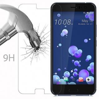 Cadorabo Panzer Folie für HTC OCEAN / U11 - Schutzfolie in KRISTALL KLAR - Gehärtetes (Tempered) Display-Schutzglas in 9H Härte mit 3D Touch Kompatibilität - Vorschau 3
