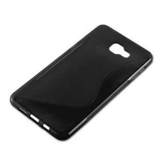 Cadorabo Hülle für Samsung Galaxy A9 2016 in OXID SCHWARZ ? Handyhülle aus flexiblem TPU Silikon ? Silikonhülle Schutzhülle Ultra Slim Soft Back Cover Case Bumper - Vorschau 3
