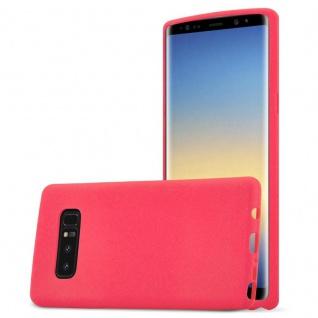 Cadorabo Hülle für Samsung Galaxy NOTE 8 in FROST ROT - Handyhülle aus flexiblem TPU Silikon - Silikonhülle Schutzhülle Ultra Slim Soft Back Cover Case Bumper