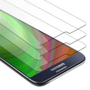 Cadorabo 3x Panzer Folie für Samsung Galaxy A7 2015 - Schutzfolie in KRISTALL KLAR - 3er Pack Gehärtetes (Tempered) Display-Schutzglas in 9H Härte mit 3D Touch Kompatibilität