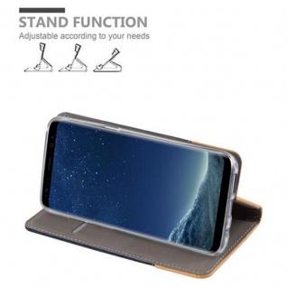Cadorabo Hülle für Samsung Galaxy S8 in DUNKEL BLAU BRAUN - Handyhülle mit Magnetverschluss, Standfunktion und Kartenfach - Case Cover Schutzhülle Etui Tasche Book Klapp Style - Vorschau 4