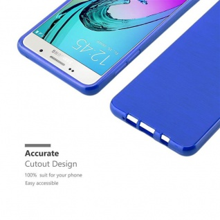 Cadorabo Hülle für Samsung Galaxy A5 2016 in BLAU - Handyhülle aus flexiblem TPU Silikon - Silikonhülle Schutzhülle Ultra Slim Soft Back Cover Case Bumper - Vorschau 5