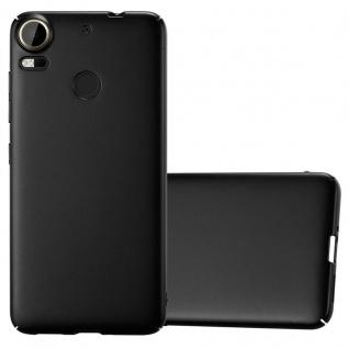 Cadorabo Hülle für HTC Desire 10 PRO in METALL SCHWARZ - Hardcase Handyhülle aus Plastik gegen Kratzer und Stöße - Schutzhülle Bumper Ultra Slim Back Case Hard Cover