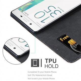 Cadorabo Hülle für Sony Xperia X in ROSÉ GOLD SCHWARZ ? Handyhülle mit Magnetverschluss, Standfunktion und Kartenfach ? Case Cover Schutzhülle Etui Tasche Book Klapp Style