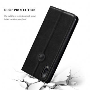 Cadorabo Hülle für Samsung Galaxy A6S in NACHT SCHWARZ - Handyhülle mit Magnetverschluss, Standfunktion und Kartenfach - Case Cover Schutzhülle Etui Tasche Book Klapp Style - Vorschau 5