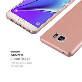 Cadorabo Hülle für Samsung Galaxy NOTE 5 in METALL ROSE GOLD ? Hardcase Handyhülle aus Plastik gegen Kratzer und Stöße ? Schutzhülle Bumper Ultra Slim Back Case Hard Cover - Vorschau 4