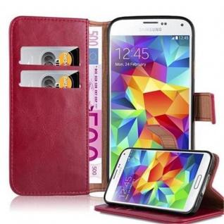 Cadorabo Hülle für Samsung Galaxy S5 / S5 NEO in WEIN ROT ? Handyhülle mit Magnetverschluss, Standfunktion und Kartenfach ? Case Cover Schutzhülle Etui Tasche Book Klapp Style