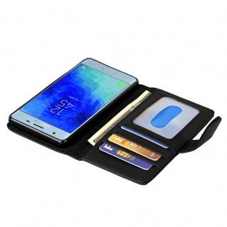 Cadorabo Hülle für Samsung Galaxy J3 2017 in OXID SCHWARZ - Handyhülle mit Magnetverschluss und 3 Kartenfächern - Case Cover Schutzhülle Etui Tasche Book Klapp Style - Vorschau 2