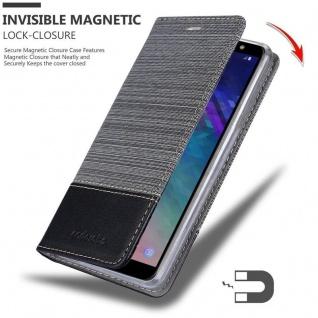 Cadorabo Hülle für Samsung Galaxy J6 2018 in GRAU SCHWARZ - Handyhülle mit Magnetverschluss, Standfunktion und Kartenfach - Case Cover Schutzhülle Etui Tasche Book Klapp Style - Vorschau 3
