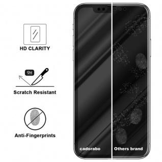Cadorabo Vollbild Panzer Folie für Apple iPhone X / XS - Schutzfolie in TRANSPARENT mit SCHWARZ - Gehärtetes (Tempered) Display-Schutzglas in 9H Härte mit 3D Touch Kompatibilität - Vorschau 3