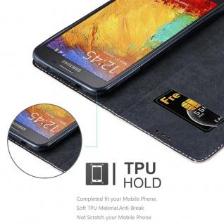 Cadorabo Hülle für Samsung Galaxy NOTE 3 NEO in ROSÉ GOLD SCHWARZ ? Handyhülle mit Magnetverschluss, Standfunktion und Kartenfach ? Case Cover Schutzhülle Etui Tasche Book Klapp Style - Vorschau 2