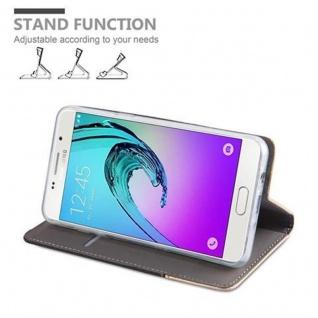 Cadorabo Hülle für Samsung Galaxy J5 2016 in ANTRAZIT GOLD - Handyhülle mit Magnetverschluss, Standfunktion und Kartenfach - Case Cover Schutzhülle Etui Tasche Book Klapp Style - Vorschau 4