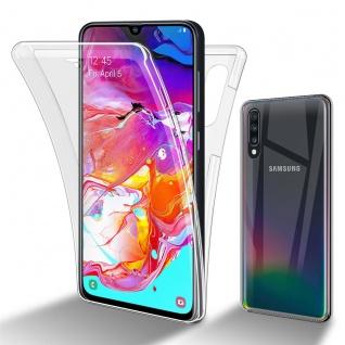 Cadorabo Hülle kompatibel mit Samsung Galaxy A70e in TRANSPARENT - 360° Full Body Handyhülle Front und Rückenschutz Rundumschutz Schutzhülle mit Displayschutz