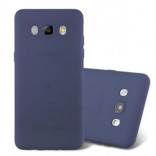 Cadorabo Hülle für Samsung Galaxy J5 2016 in FROST DUNKEL BLAU - Handyhülle aus flexiblem TPU Silikon - Silikonhülle Schutzhülle Ultra Slim Soft Back Cover Case Bumper
